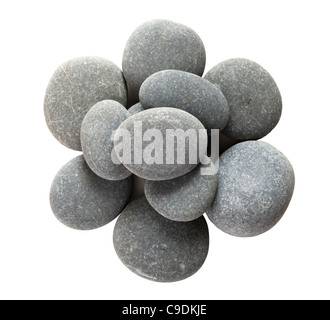 Pile of large pebbles (limestone). - Stock Image
