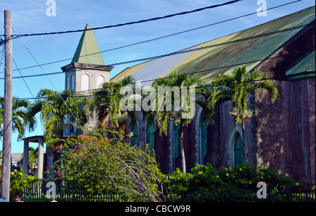 St. George's Anglican Church Roseau Dominica landmark - Stock Image