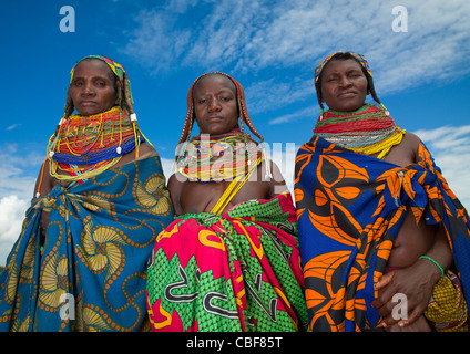 Mwila Women With Togas, Chibia Area, Angola - Stock Image