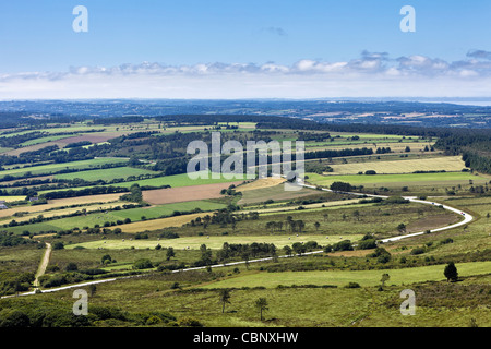 Crozon Peninsula landscape, Finistere, Brittany, France - Stock-Bilder