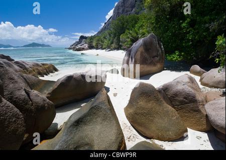 Tropical beach, La Digue, Seychelles - Stock-Bilder