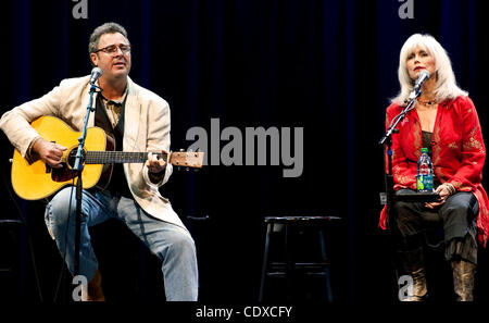 Sept. 13, 2011 - Los Angeles, California, USA -  Vince Gill and Emmylou Harris perform during the Country Music - Stock Image