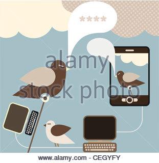 Social Network - vector concept for social media. - Stock Image