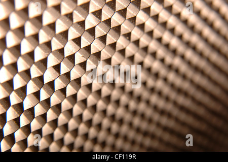 A still life shot of an abstract metalic background - Stock Image