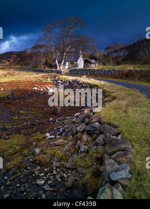 View across the bank of the tidal Loch nan Ceall at low tide. - Stock-Bilder