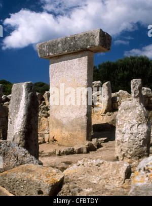 Spain Menorca Torralba, Talayotic sanctuary & Taula - Stock Image
