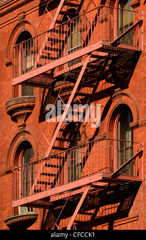 Fire Escape, Tribeca, Manhattan, New York City, New York - Stock Image