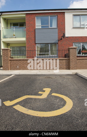 Disabled parking bay stock photos disabled parking bay for Handicapped housing