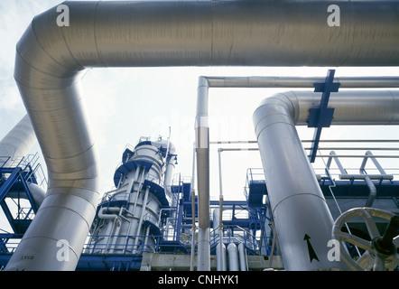 Oil Refinery Singapore - Stock-Bilder