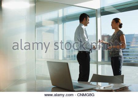 Business people talking in office - Stock-Bilder