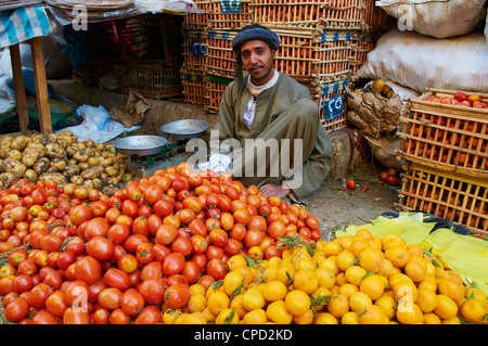 Market of Aswan, Egypt, North Africa, Africa - Stock Image