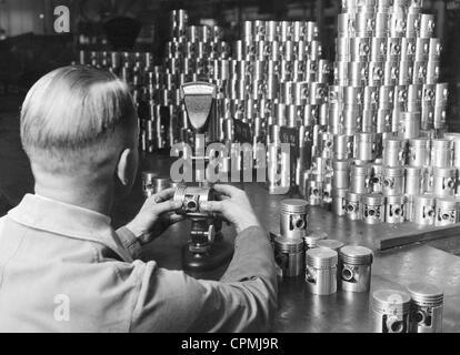 Plant of the Adam Opel AG in Ruesselsheim, 1930 - Stock-Bilder