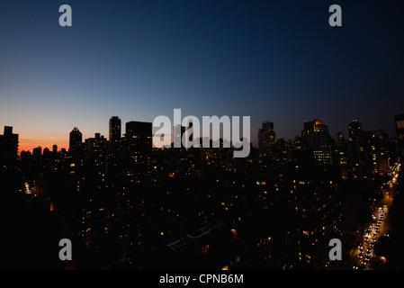 USA, New York, New York City at night - Stock-Bilder