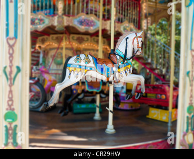 Carousel ride horse - Stock Image