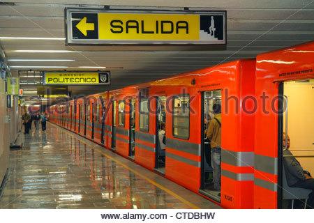Mexico City Mexico DF D.F. Distrito Federal Zona Rosa Metro subway STC mass transit public transportation Pantitlan - Stock Image