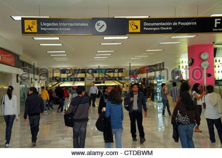 Mexico City Mexico DF D.F. Ciudad de México Federal District Distrito Federal Benito Juarez International Airport - Stock Image