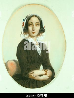 KWIATKOWSKI portrait presumed to be George Sand - Stock Image