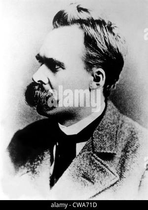 Friedrich Nietzsche, 19th century German philosopher, circa 1887. - Stock-Bilder