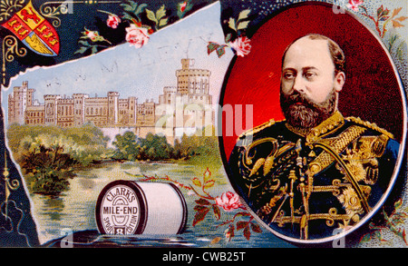 King Edward VII (1841-1910), King of England, Ireland, the Commonwealth Realms and the Emperor of India from 1901 - Stock-Bilder