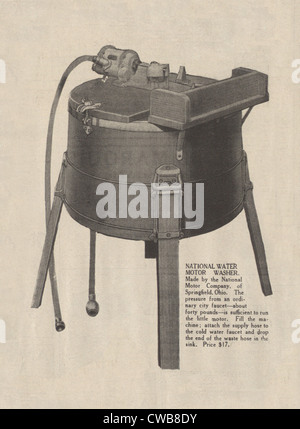 Washing Machine. An early electric washing machine advertisment, 1916 - Stock-Bilder