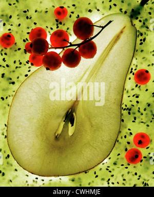 pear,pear half - Stock-Bilder