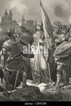 """a history of the trial of jeanne darc or joan of arc the maid of orleans 7 surprising facts about joan of arc url (""""joan the maid she later explained that her father was called jacques d'arc and."""