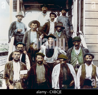 Spanish Construction Workers, Panama Canal, Panama, 1912 - Stock-Bilder