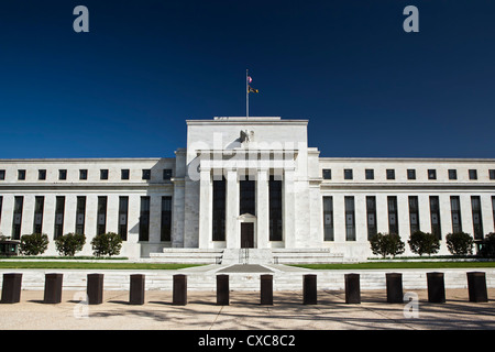 The United States Federal Reserve Building, Washington D.C., United States of America, North America - Stock Image