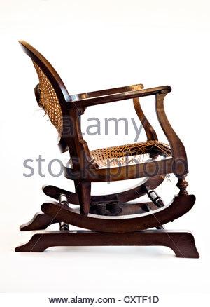 vintage rattan rocker wooden rocking chair stock photos wooden rocking chair stock