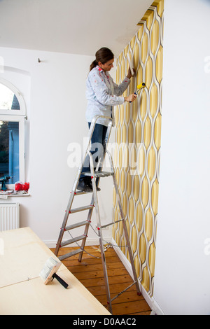 Wife up a ladder without panties