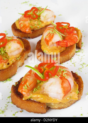 Prawn canapes stock photos prawn canapes stock images for Prawn cocktail canape