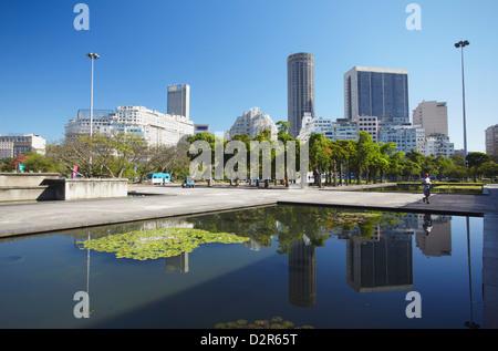 Skyline of Centro, Rio de Janeiro, Brazil, South America - Stock Image