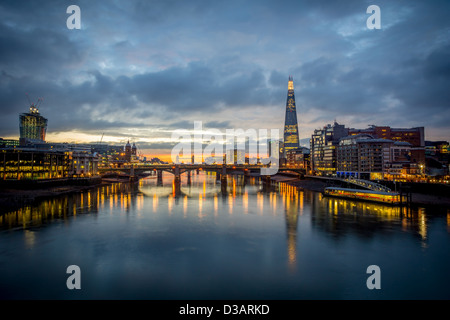 The London Skyline At Dawn - Stock Image