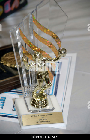 An athletic Hall of Fame trophy - Stock Image