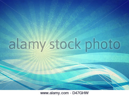 abstract blue wave - Stock-Bilder