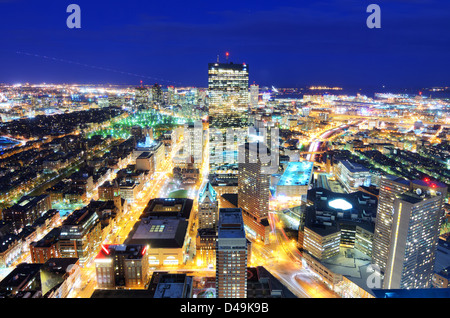 Aerial view of downtown Boston, Massachusetts, USA. - Stock Image