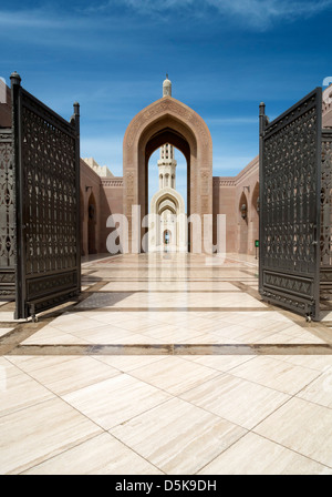 Sultan Qaboos Grand Mosque in Muscat Oman Middle East - Stock Image