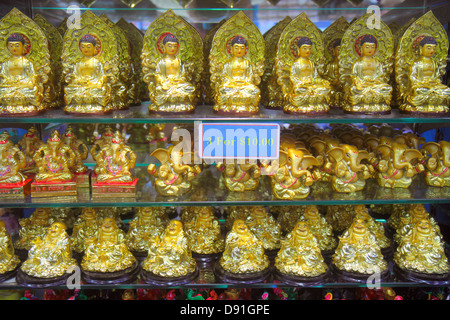 Singapore Little India shopping souvenir Buddha Hindu elephant - Stock Image