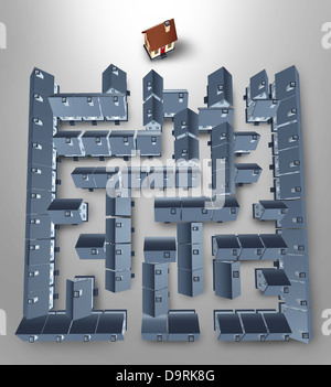 Home Search Solutions Real Estate Concept Maze Buying Guide Stock Photos Images Alamy