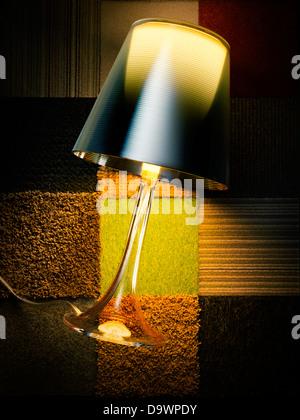 lamp on a rug - Stock-Bilder