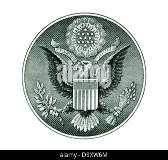 Great Seal of the United States with clipping path - Stock Image
