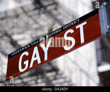 Gay Street in the Greenwich Village Historic District of New York City. - Stock-Bilder