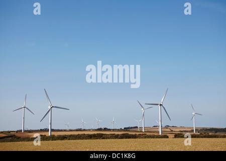 Wind farm Truro, Cornwall, England, UK - Stock Image