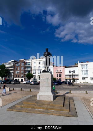 Admiral Lord Nelson memorial, Portsmouth, Hampshire - Stock Image