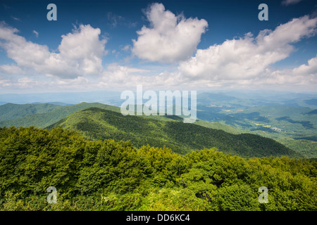 View of Appalachian mountains in north Georgia, USA. - Stock-Bilder