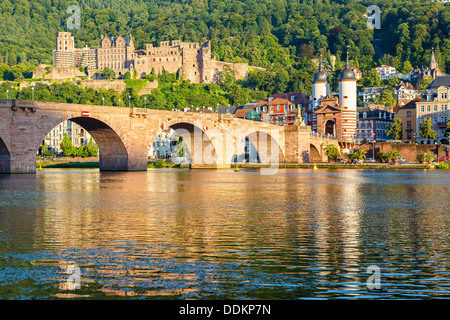 Bridge in Heidelberg - Stock Image