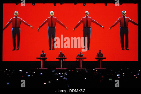 Kraftwerk performs live at the Sonar festival in Barcelona, Spain - Stock Image