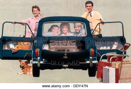 Morris Mini-Minor advert, 1960s. - Stock-Bilder