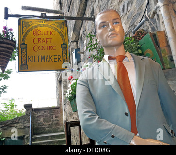 Edinburgh Celtic Craft KiltMaker, tourist attraction, Old Town, High Street,Scotland,UK - Stock Image