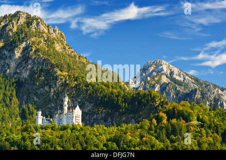 Neuschwanstein Castle in the Bavarian Alps of Germany. - Stock Image